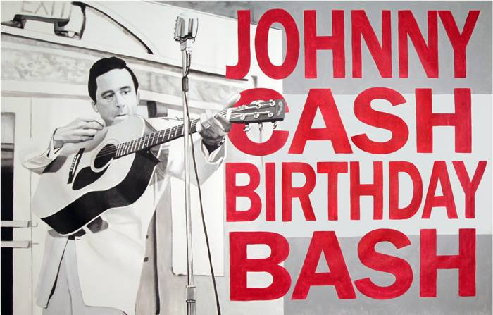 Johnny Cash Birthday Bash banner by LJ Lindhurst