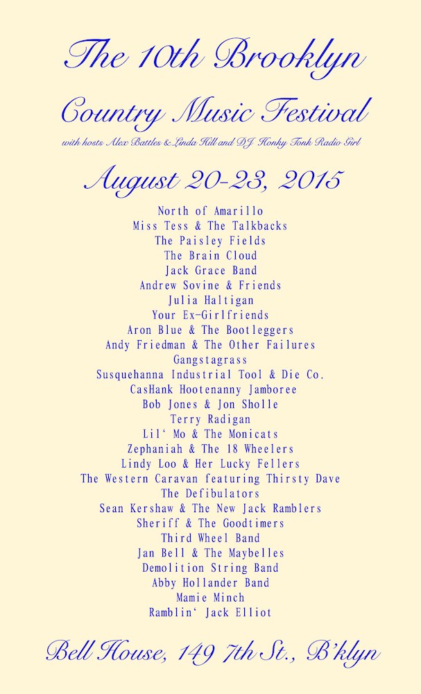 The 10th Brooklyn Country Music Festival
