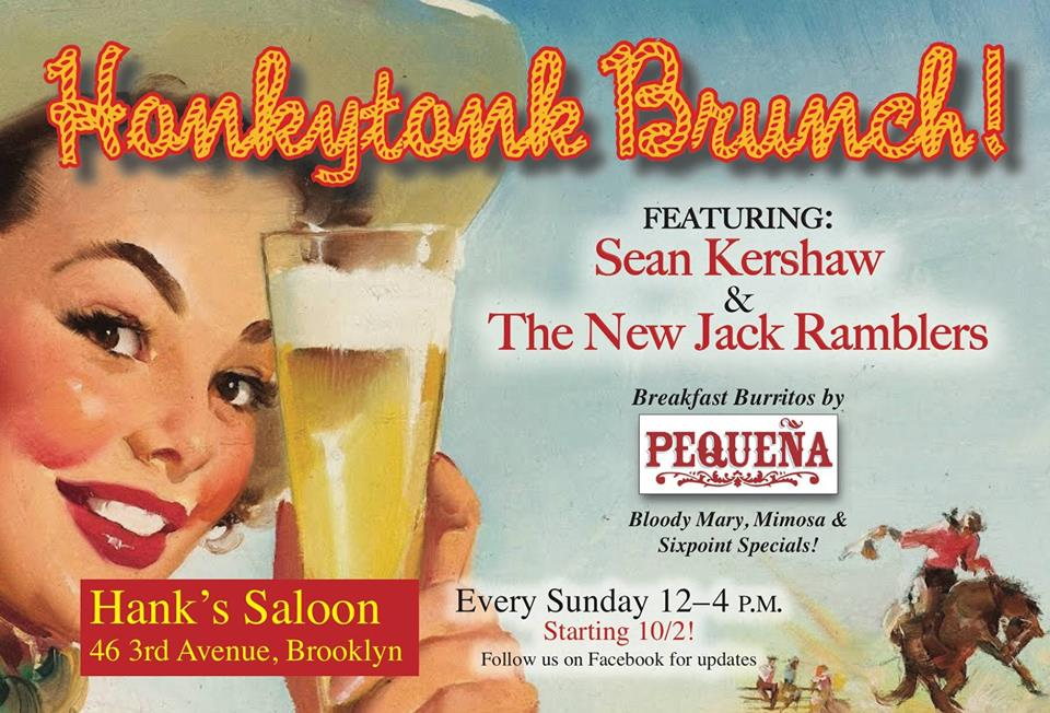 This Sunday, October 30 at Hank's Saloon, Alex Battles plays from 4-6pm following the Sean Kershaw & The New Jack Ramblers Honky Tonk Brunch Show from 12-4pm