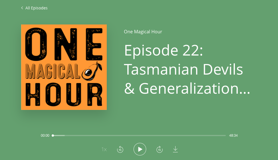 Episode 22 of One Magical Hour, A Matthew & Shafer Podcast Spectacular